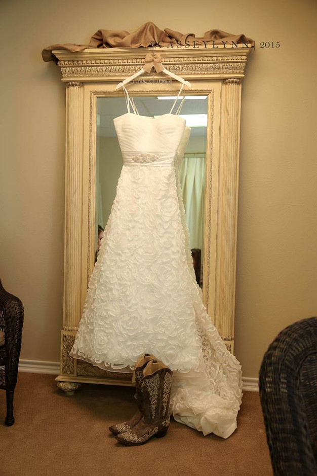 Beautiful dress in the bride's suite