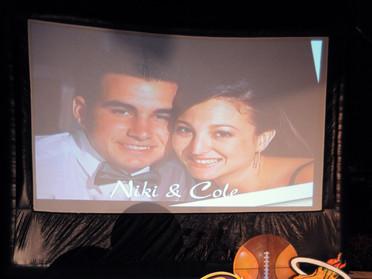 Outdoor Big Screens Wedding Rehearsal Dinner