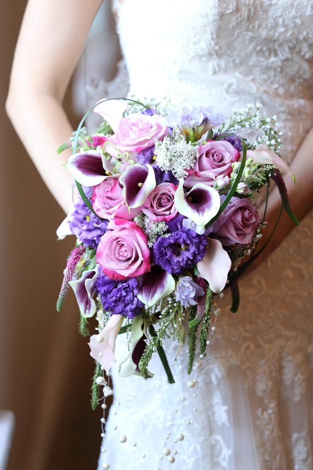 Stunning heart shaped bouquet