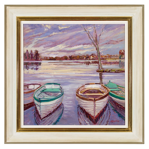 Rowing boats, Easter morning