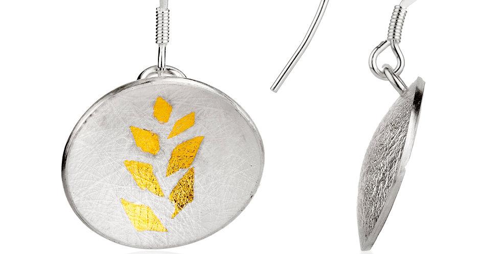 Gold Leaf Hook Earrings
