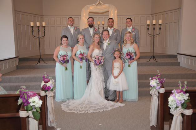 The whole wedding party.