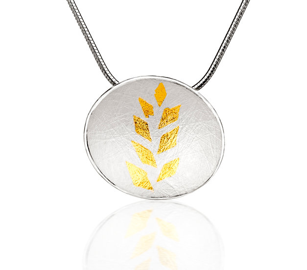 Gold Leaf Small Pendant