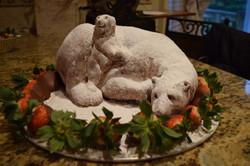 Barely Bear Food Sculpture