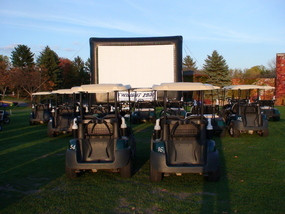 Outdoor Movie Golf Cart Drive In