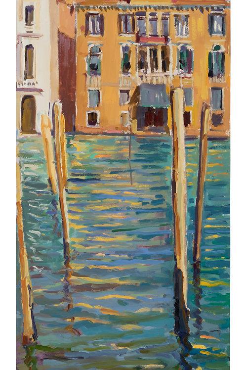 Golden reflections, Venice