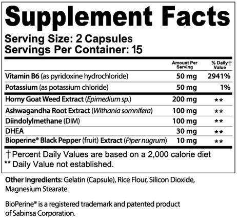 XZEN Labs EstroXzen ULTRA Female Enhancement Supplement Facts