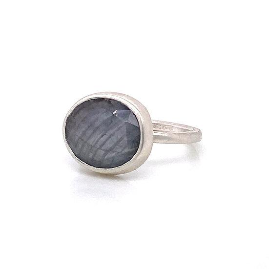 Grey Sapphire Ring