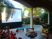Backyard Outdoor Movie Screen