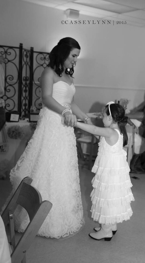 Kaylee dancing with her flower girl