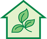The Cleaning Company Green House Logo