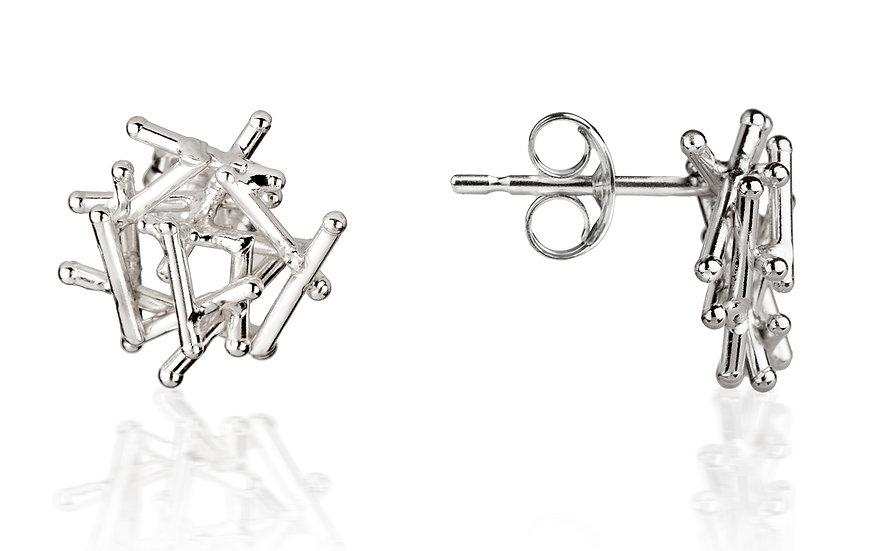 Magnetic Silver Stud Earrings