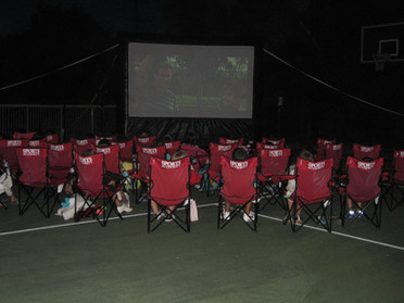 Backyard Outdoor Movie Night