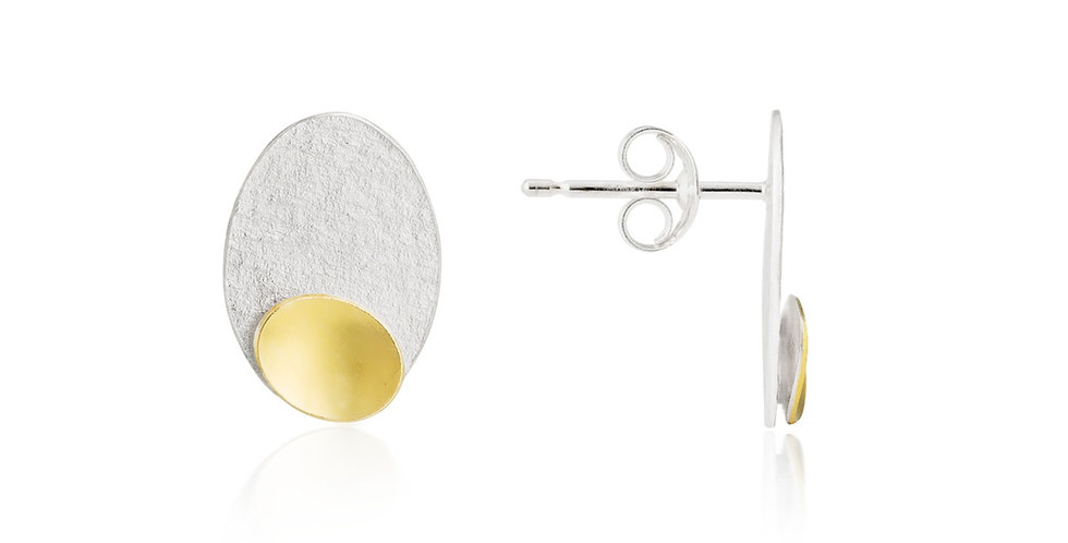 Cascade Small Stud Earrings with Disc