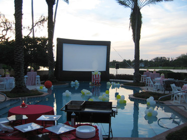 Outdoor movie screen palm beach