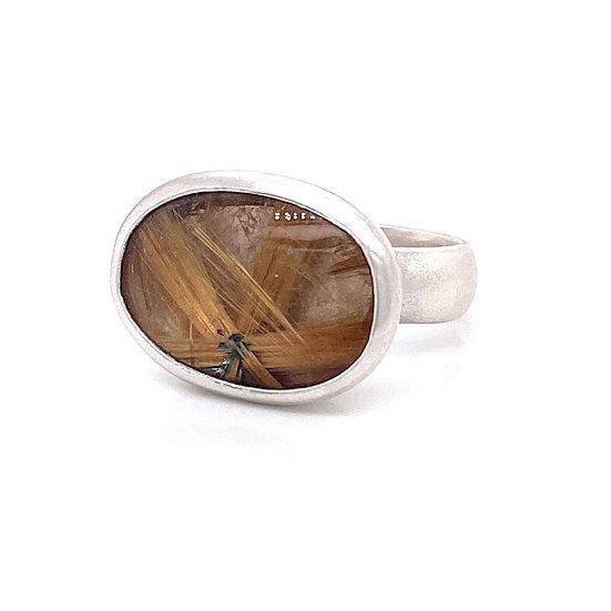 Rutile Quartz Ring