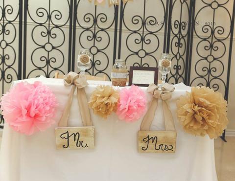 Festive Sweetheart Table