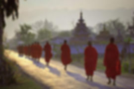 Monks-begging-for-alms-in-the-early-morn