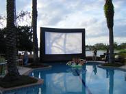 Outdoor Cinema Big Screen Wedding Rehearsal Dinner