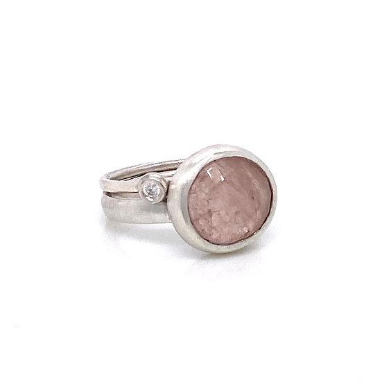 Morganite & Diamond Rings