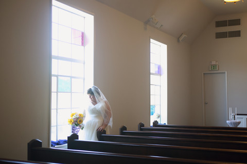 Soft Light from the Chapel Windows.