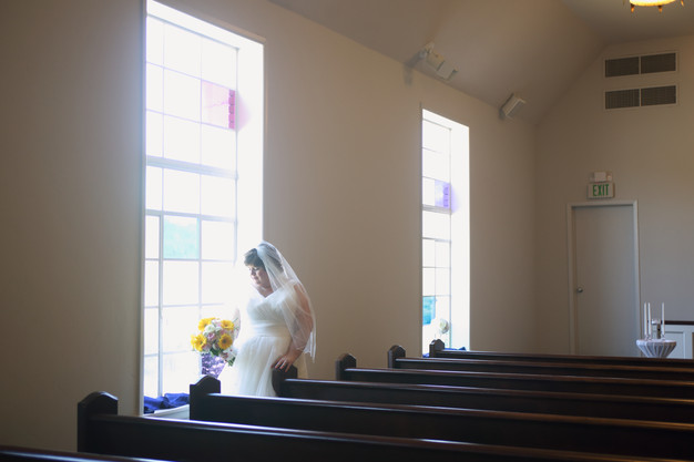 Soft light from our chapel windows