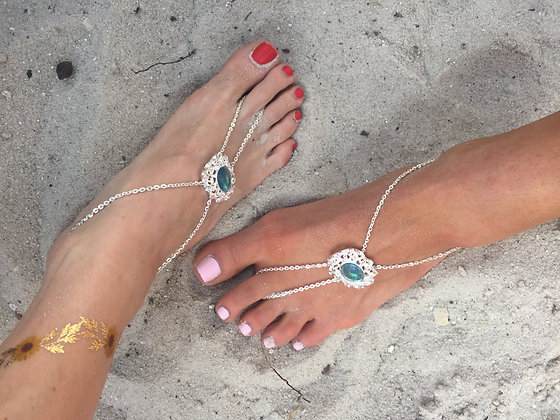 The 'Aqua' Foot Chain