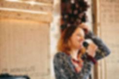 Genevieve Carver in studio