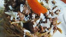 Artichoke Heart Linguine with Orange-scented Lamb Ragout