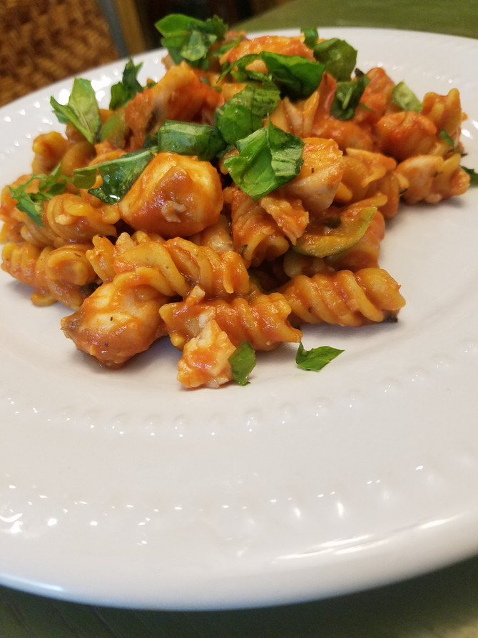 Rosemary Lemon Fusilli with Seafood Ragout