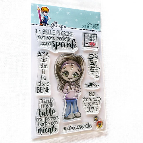 GLIMPS CLEAR STAMPS - GCS 19-03 CUORE