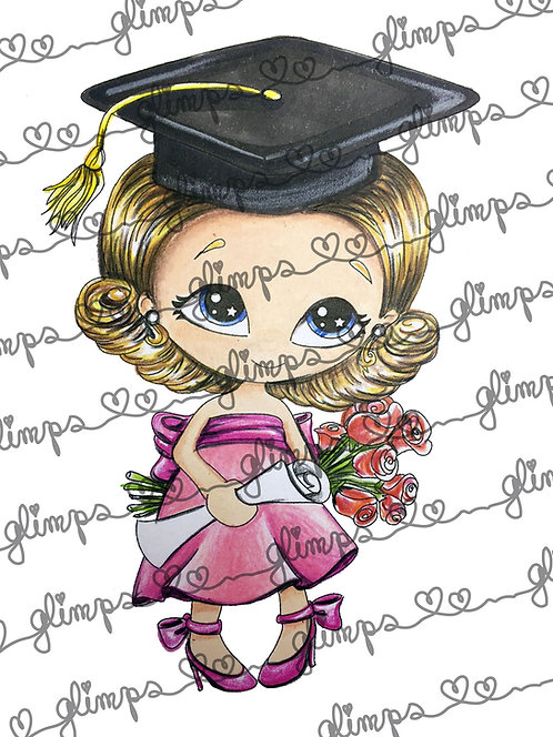 Graduate with flowers