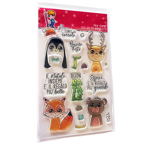 GLIMPS CLEAR STAMPS - GCS 20-34 ANIMALETTI