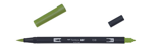 158 DARK OLIVE - TOMBOW - DUAL BRUSH