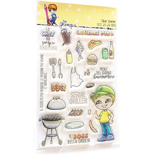 GLIMPS CLEAR STAMPS - GCS 20-26 BBQ