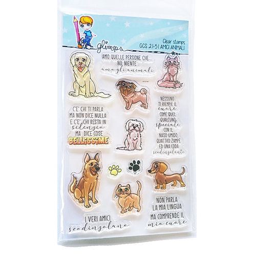 GLIMPS CLEAR STAMPS - GCS 21-51 AMICI ANIMALI