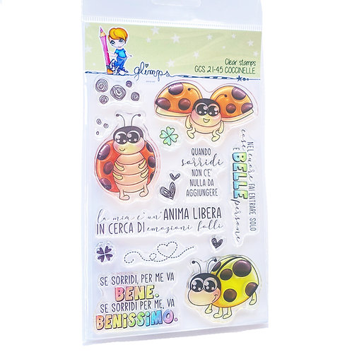 GLIMPS CLEAR STAMPS - GCS 21-45 COCCINELLE