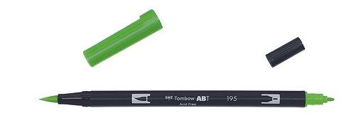 195 LIGHT GREEN - TOMBOW - DUAL BRUSH