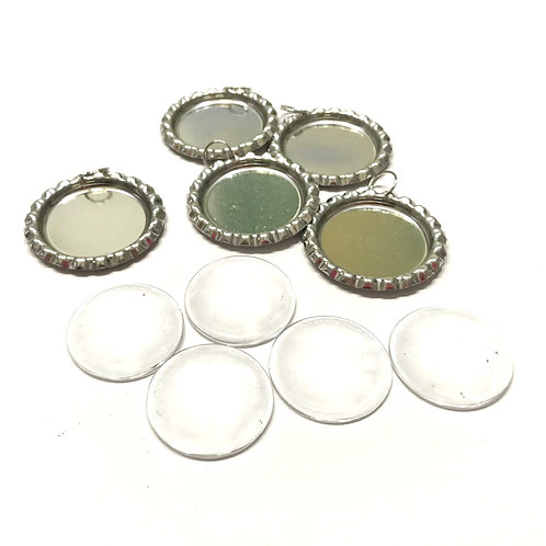 5 CABOCHON IN VETRO CON BOTTLE CAP
