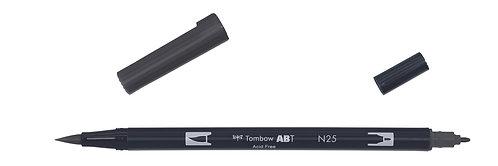 N25 LAMP BLACK - TOMBOW - DUAL BRUSH
