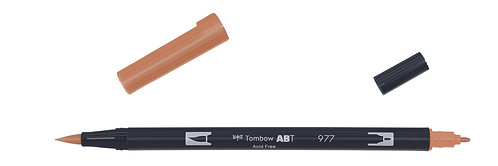 977 SADDLE BROWN - TOMBOW - DUAL BRUSH