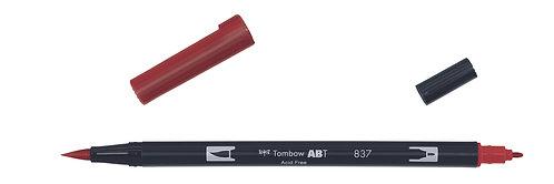 837 WINE RED - TOMBOW - DUAL BRUSH