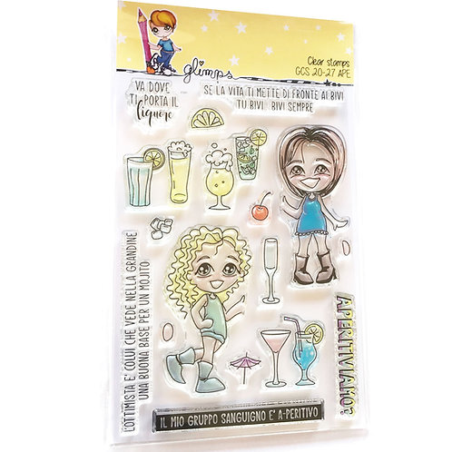 GLIMPS CLEAR STAMPS - GCS 20-27 APE