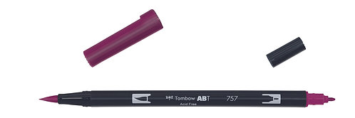 757 PORT RED - TOMBOW - DUAL BRUSH