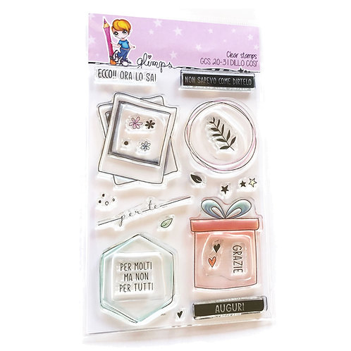 GLIMPS CLEAR STAMPS - GCS 20-31 DILLO COSI'