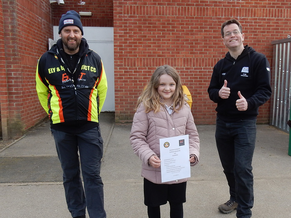 junior rider with their certificate