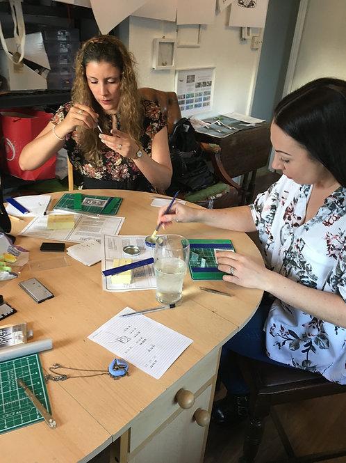 Bespoke sterling silver jewellery design workshop
