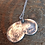 Thumbnail: Personalised fingerprint and message double pendent necklace