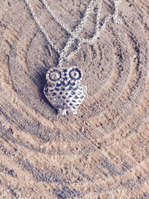 Sterling silver owl necklace and/or earrings