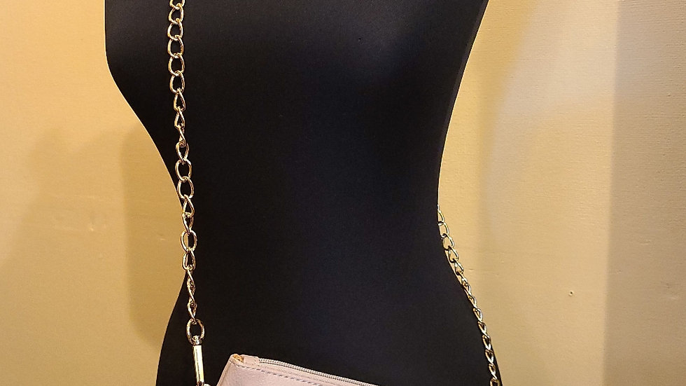 Faux leather beige purse